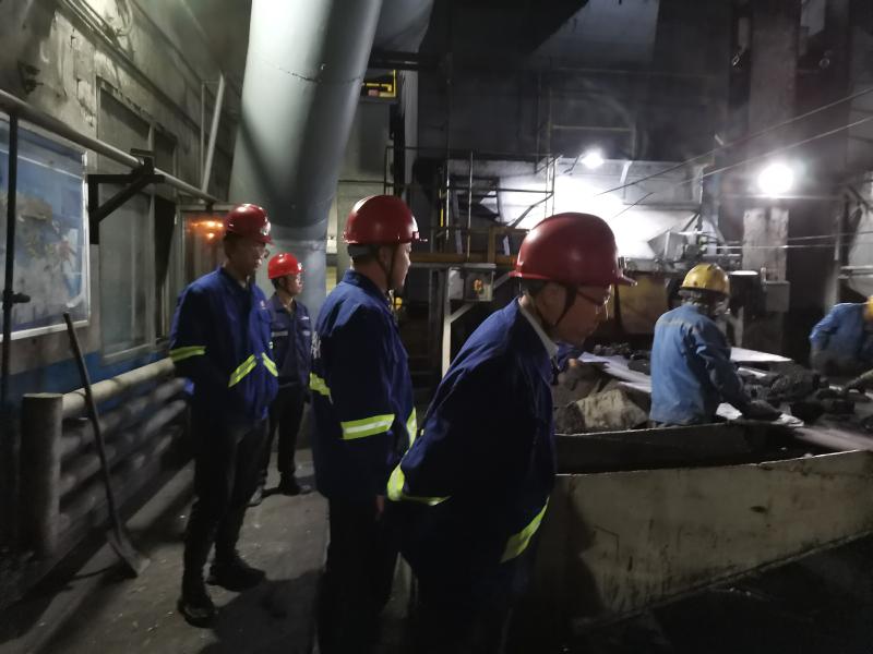 公司副总经理黄岗一行莅临黄陵二号选煤厂检查指导工作